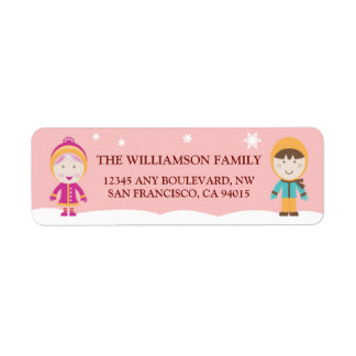 From-Our-Family Return Address Labels (pink)