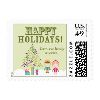 From-Our-Family-To-Yours Holiday Postage (lime)