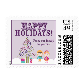 From-Our-Family-To-Yours Holiday Postage (purple)