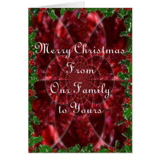 From Our Family to Yours in Stained Glass Card