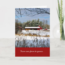 From Our Farm to Yours, Christmas Greeting Card