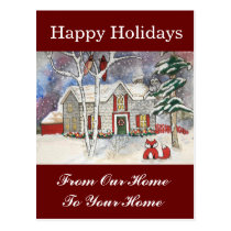 From Our Home To Your Home Holiday House Postcard