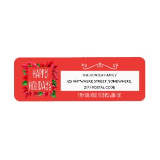 From Our House To Yours/Happy Holidays Address Label