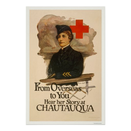 From Overseas to you--Hear her Story at Chautauqua Poster