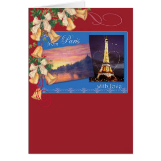 From Paris with love  christmas greetings Card