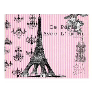 From Paris, With Love Postcard