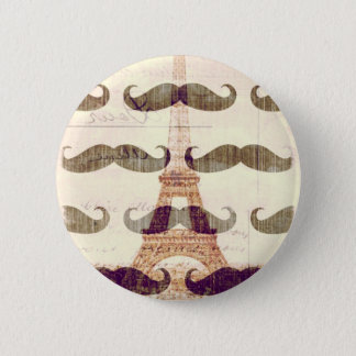 From Paris with mustache Button