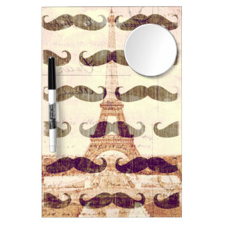 From Paris with mustache Dry Erase Board With Mirror