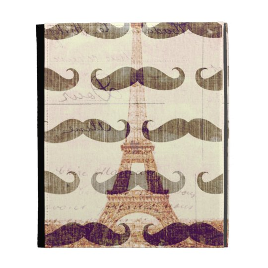 From Paris with mustache iPad Case