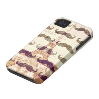 From Paris with mustache iPhone 4 Case-Mate Cases