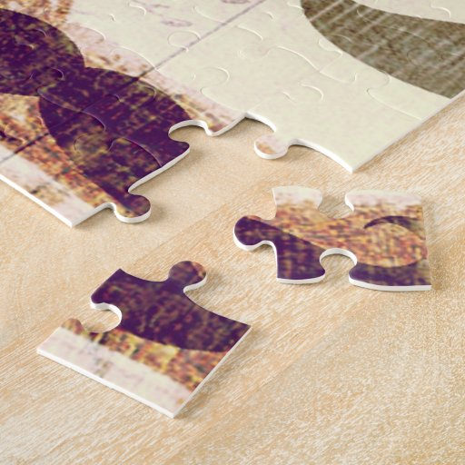 From Paris with mustache Jigsaw Puzzle