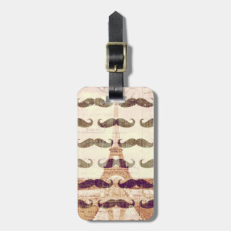 From Paris with mustache Luggage Tag