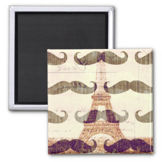 From Paris with mustache Magnet