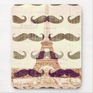 From Paris with mustache Mouse Pad