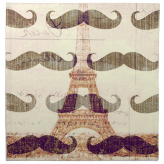 From Paris with mustache Napkin