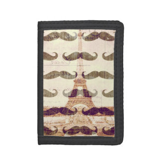 From Paris with mustache Trifold Wallet