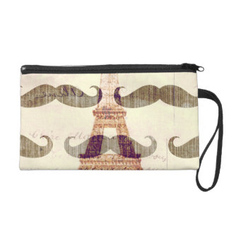 From Paris with mustache Wristlet Purse