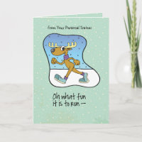 Greeting Cards Trainer From Personal To Clients Running Exercise