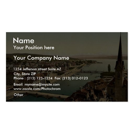 From Peter Church, with Farumunster and Alpenkette Double-Sided Standard Business Cards (Pack Of 100)