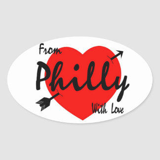 From Philly With Love Oval Sticker
