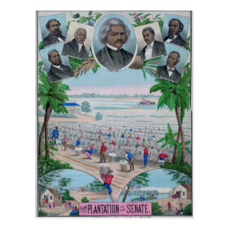 From Plantation To The Senate Postcard