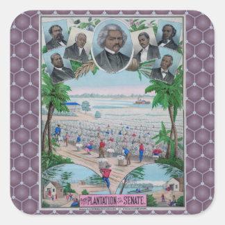 From Plantation To The Senate Square Sticker