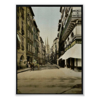 From Port Neuf, Bayonne, Pyrenees, France vintage Poster