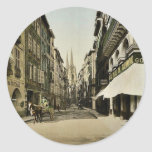 From Port Neuf, Bayonne, Pyrenees, France vintage Round Stickers