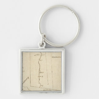 From Poughkeepsie to Albany 14 Silver-Colored Square Keychain