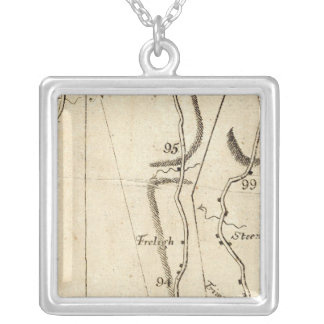 From Poughkeepsie to Albany 21 Square Pendant Necklace