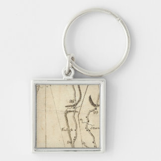 From Poughkeepsie to Albany 21 Silver-Colored Square Keychain