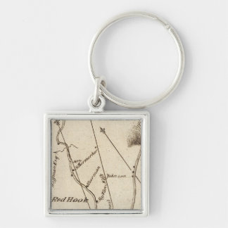 From Poughkeepsie to Albany 22 Silver-Colored Square Keychain