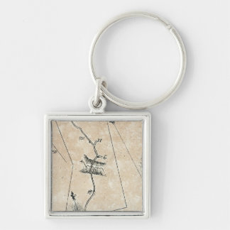 From Poughkeepsie to Albany 23 Silver-Colored Square Keychain