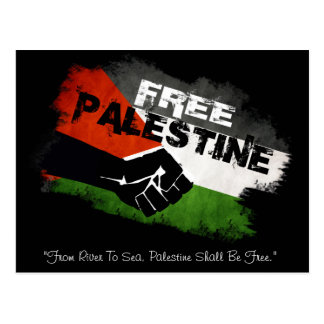 """""""From River to Sea"""" Free Palestine Postcard"""