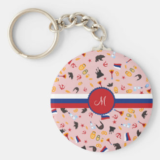 From Russia With Love- Russian Monogram Basic Round Button Keychain
