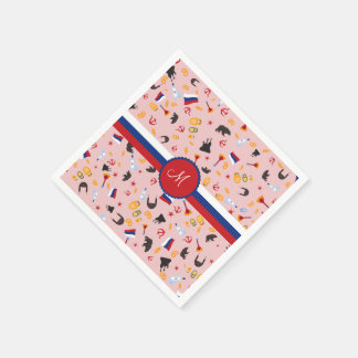 From Russia With Love- Russian Monogram Paper Napkin