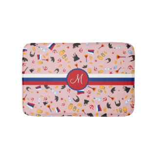 From Russia With Love- Russian pattern Bathroom Mat