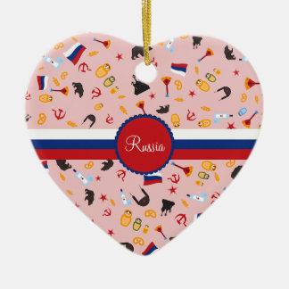 From Russia With Love- Russian pattern Ceramic Ornament