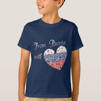 From Russia with love- Text and Russian Heart T-Shirt