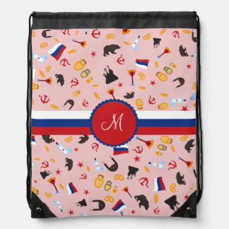 From Russia With Love- travel to Russia Drawstring Bag