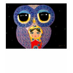 Owl and Russian Doll T-Shirt