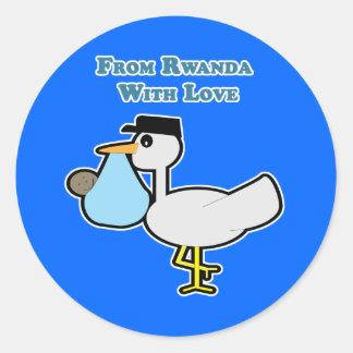 From Rwanda with Love Envelope Seal/Sticker Classic Round Sticker