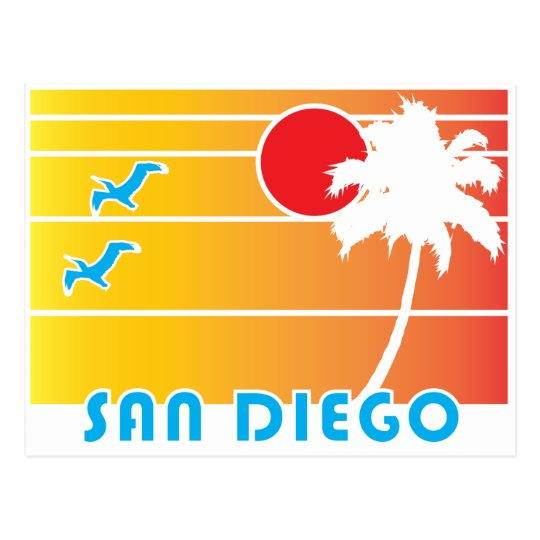 From San Diego California - Vintage Style Postcard