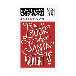 From Santa Christmas Birth Announcement Postage