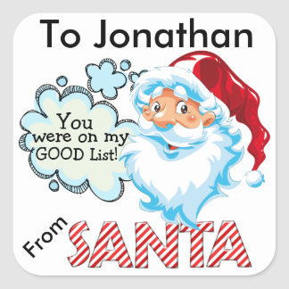 From SANTA Christmas Sticker - SRF