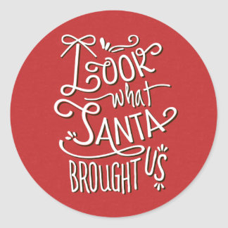 From Santa Holiday Birth Announcement Sticker