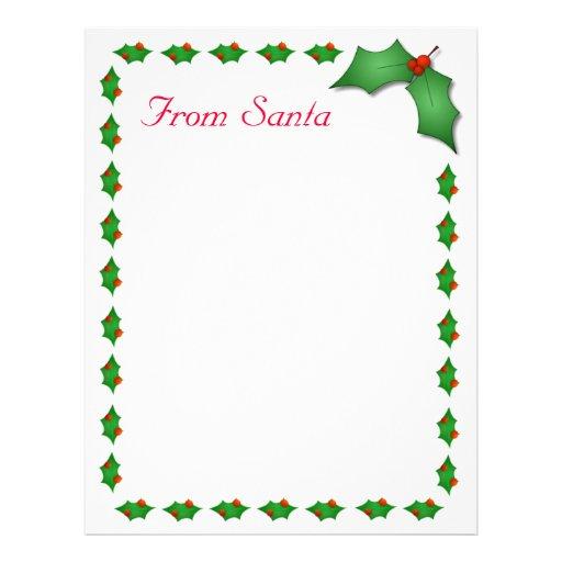 ... From Santa Letterhead, Custom Letter From Santa Letterhead Templates