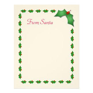 Letter from santa letterhead custom letter from santa letterhead