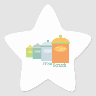 From Scratch Star Sticker