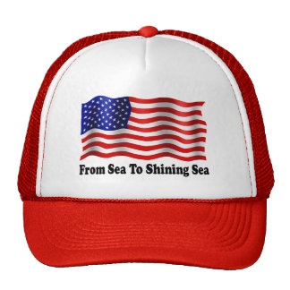 From Sea To Shining Sea - Red Truckers Hat